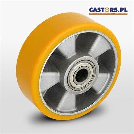ALPU 160/20K Aluminum wheel with vulcanized PU tread for pallet jack  Load Capacity 600 kg