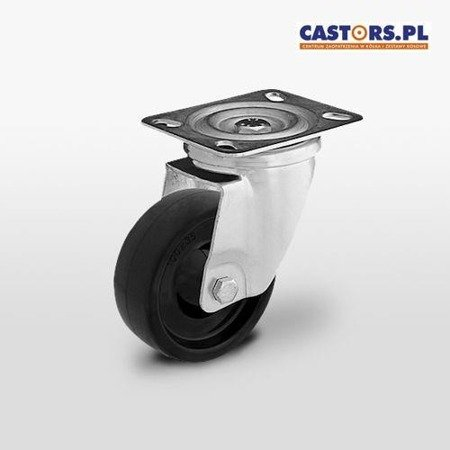 Castor for use at high temperatures KPRW-MTW 80S Load capacity 140 kg / 80 mm /plain bearing