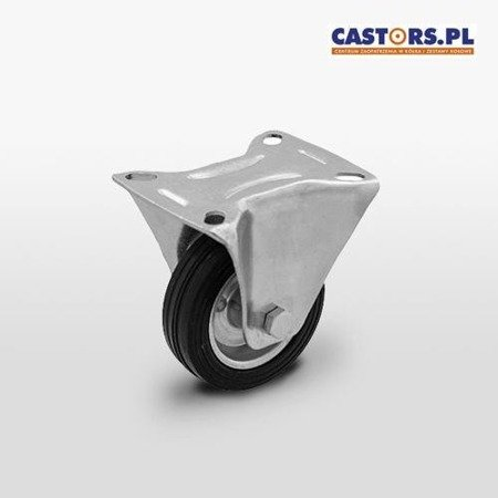 Fixed castor CTPW-SG 125W Rubber tyre Steel rim Load Capacity 100kg/125mm/ Roller bearing