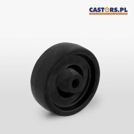 Heat resistant wheel MTW 80/12S Black Special Fiber/ Diameter 80mm / Load Capacity 160kg