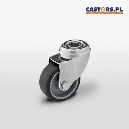 Swivel castor KMA-TPA 50S Grey rubber, Polipropylene rim ,Load capacity 40kg / 50mm/ plain