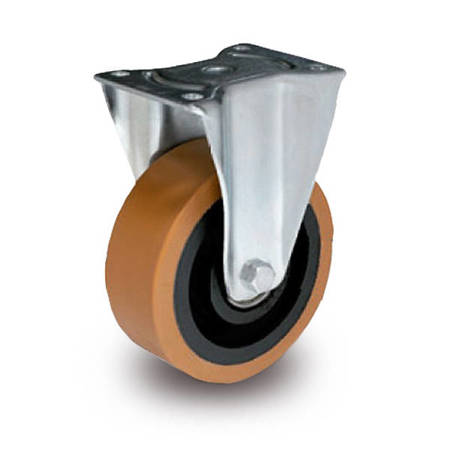 TPH-ZPU 160K Fixed Castor 160mm / polyurethane-cast iron / ball bearing / 800kg