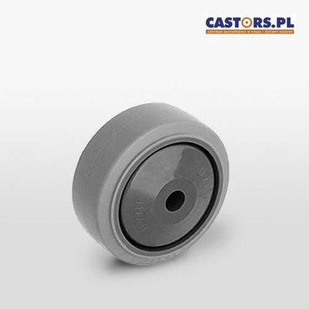WTE 100/8K1 100mm Polypropylene wheel - non-marking rubber tyre - ball bearing